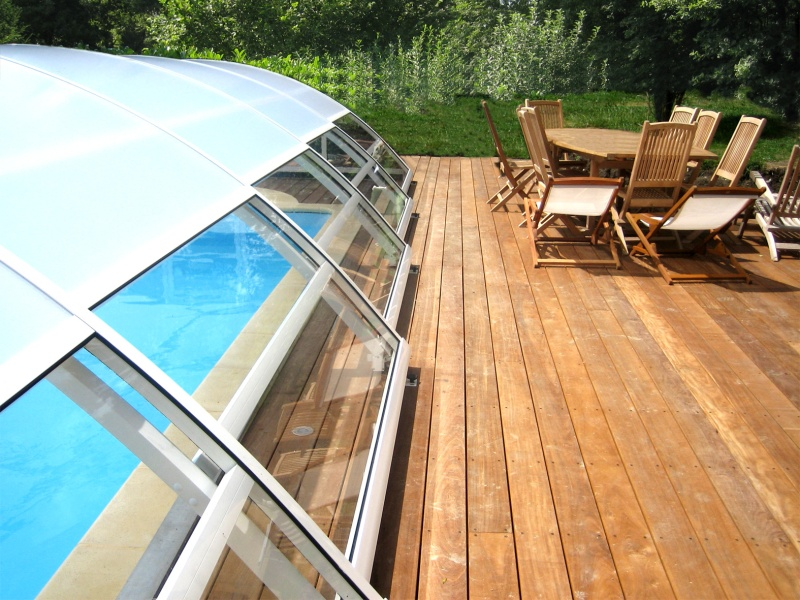 Poolabri abri piscine mi haut telescopique - Haut parleur pour piscine ...