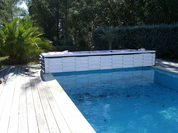 Poolabri abri piscine plat repliable for Piscine bois occasion