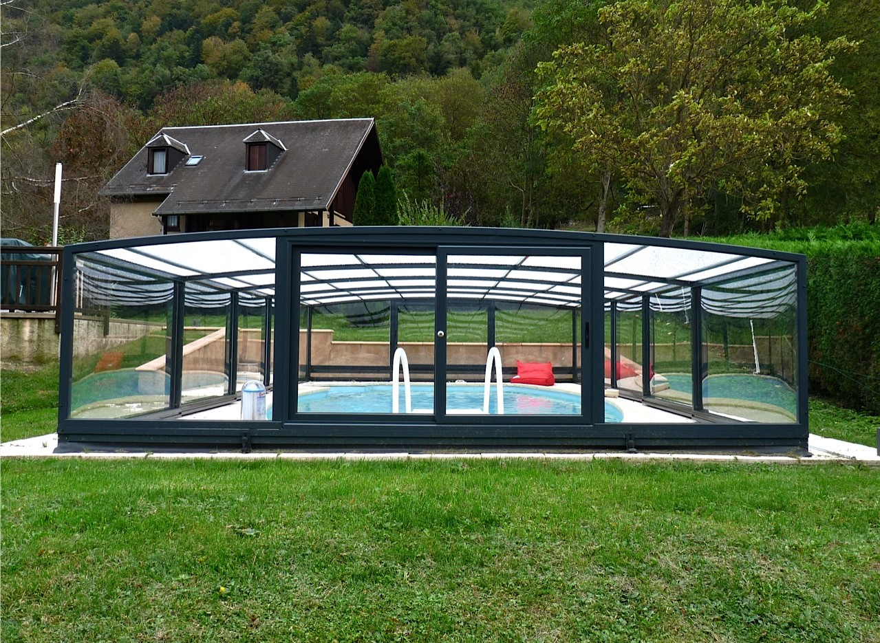 L 39 abri de piscine semi haut for Abri piscine semi haut