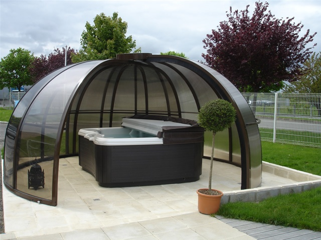 Poolabri abri spa rotonde - Veranda retractable tarif ...